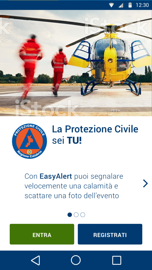 Easy Alert - Screenshot dell'app
